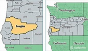 Map Of Douglas County Oregon