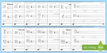 letter families  cvc words handwriting worksheet activity
