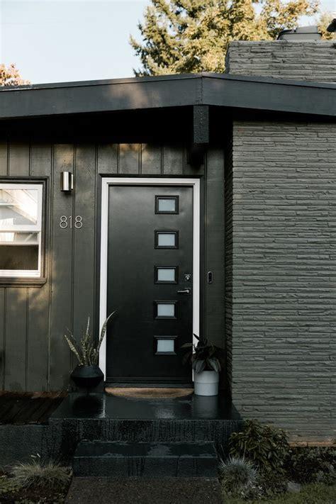 midcentury modern front doors inspiration  shopping