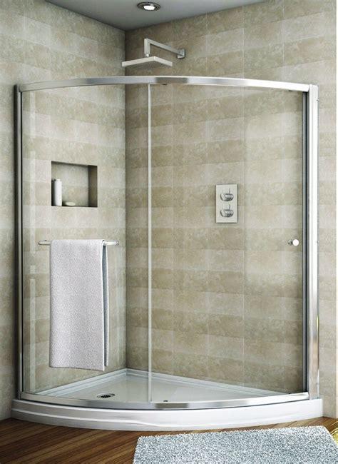 Curved Shower Door by Fleurco Banyo Amalfi Slice Curved Sliding Frameless Shower
