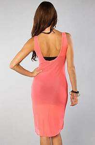 Blaque Market The Spot on Sheer Tunic Dress in Neon Pink