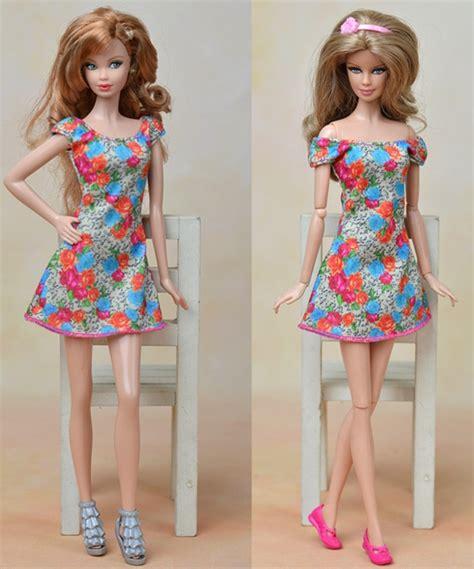 Mano Dress handmade dolls clothes for dollhouse flowers dress