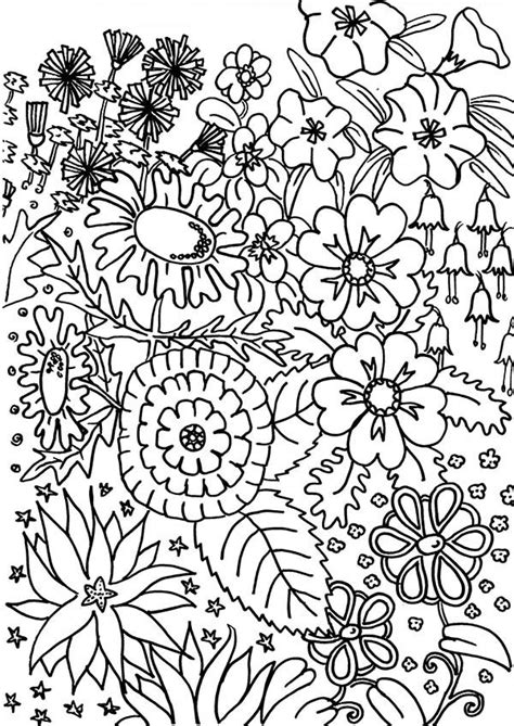 flower garden coloring pages to and print for free