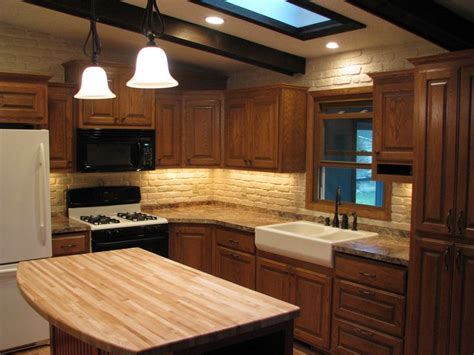 split level kitchen remodel oak cabinets farm