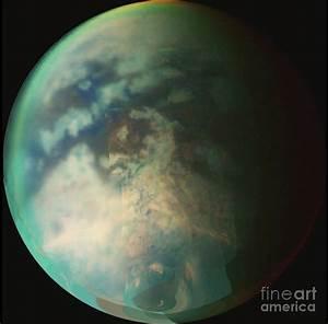 Saturns Moon Titan Photograph by Nasa