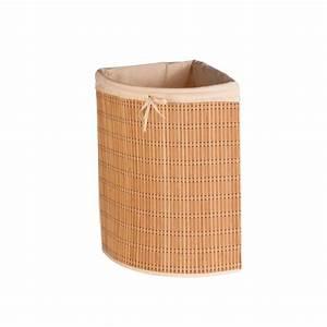 Panier à Linge Bambou : honey can do panier linge angulaire en bambou home ~ Dailycaller-alerts.com Idées de Décoration