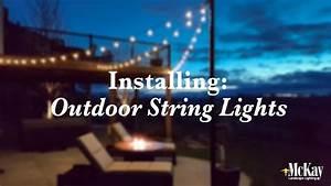 Installing Outdoor String Lights