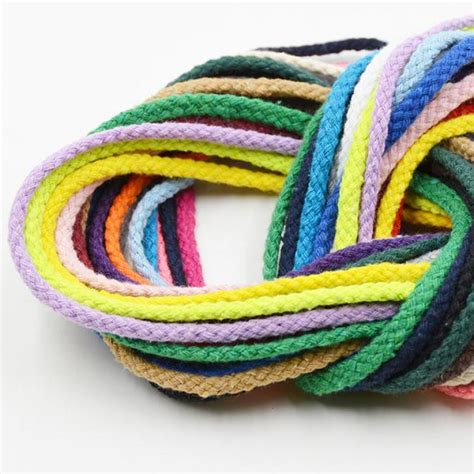 colored cotton rope 5 meters length 5mm colored cotton cords braided rope diy