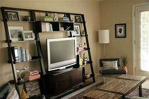 Custom Wood Cool Homemade TV Stands With Vertical