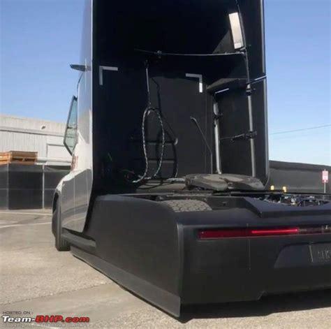 team bhp  tesla electric semi truck