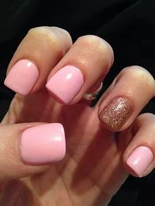 Light pink and glitter. #chinaglaze #acrylics #nails ...