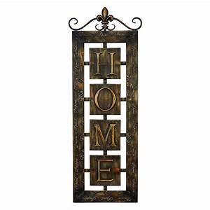 shop woodland imports 15 in w x 39 in h frameless metal With kitchen cabinets lowes with home metal wall art