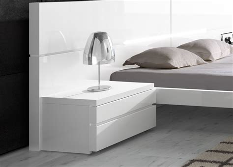 white storage bed king aris bedside cabinet contemporary bedside cabinets