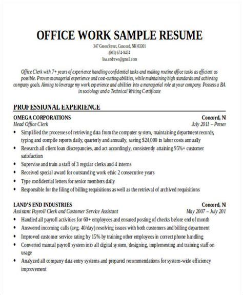 Work Resume by 20 Printable Work Resume Templates Pdf Doc Free
