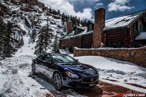 maserati snow maserati quattroporte goes to pikes peak colorado springs