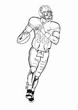 Coloring Football Player Printable Nfl Drawing Players Newton Cam Draw Coloring4free Quarterback Drawings Manning Boys Template Stuff Getdrawings Sheets Peyton sketch template