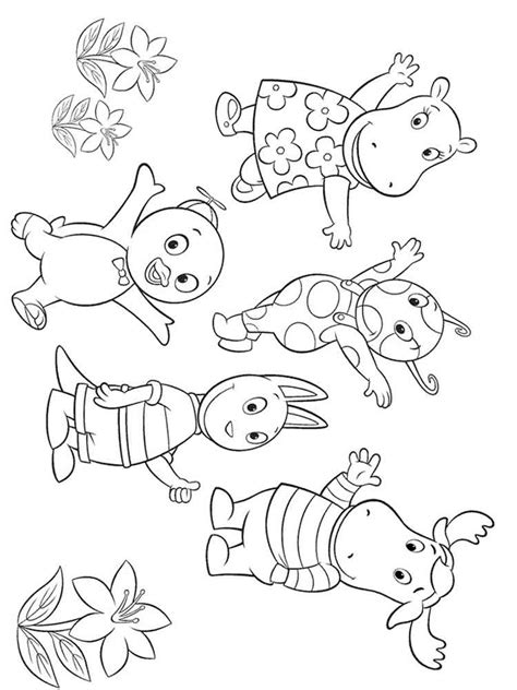 backyardigans coloring pages  printable backyardigans