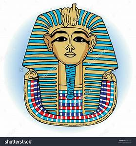 Mask clipart egyptian pencil and in color mask clipart for King tut mask template