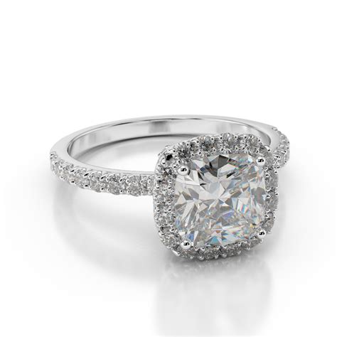 christmas 1 ct d si1 diamond engagement ring cushion 18k