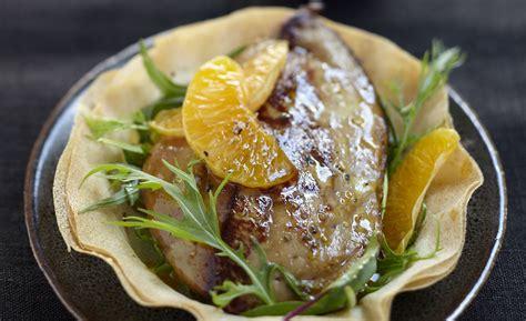 cuisine corse recettes foie gras de canard des landes chaud aux clémentines de