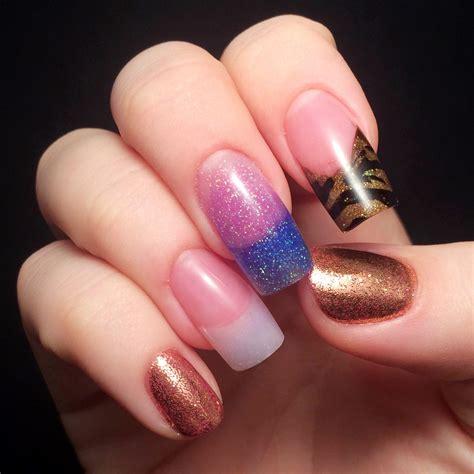 color acrylic nails nail school week 5 acrylics ahoy chalkboard nails