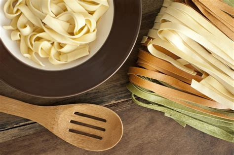 cooked fettuccini  plate    stock image