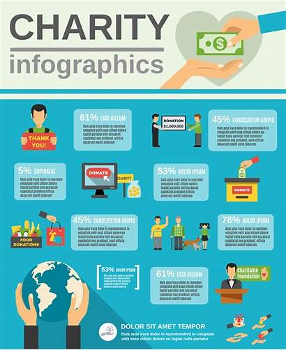 Charity Infographic Vector Poor Graphics Clipart Illustration