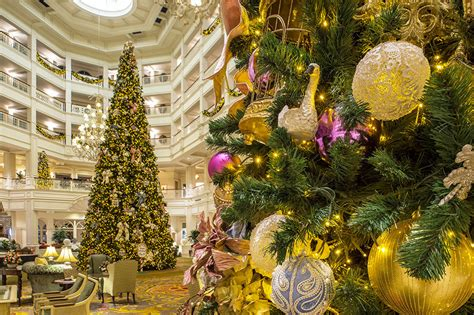 grand floridian christmas tree trees at the resorts of walt disney world