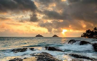 Hawaii Kailua Kona Dawn Wallpapers Desktop Sunrise
