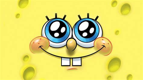 Spongebob Cartoon Yellow Small Tooth Eyes Wallpaper