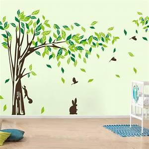 Large wall decal tree removable green decor living