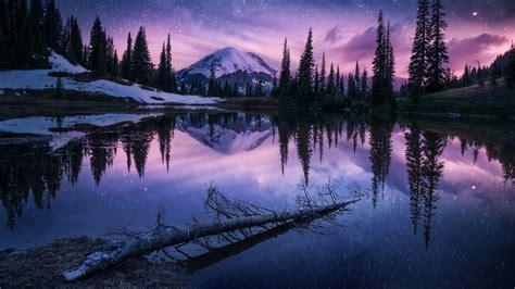 2560x1440 Lake Nature Night Reflection 1440p Resolution