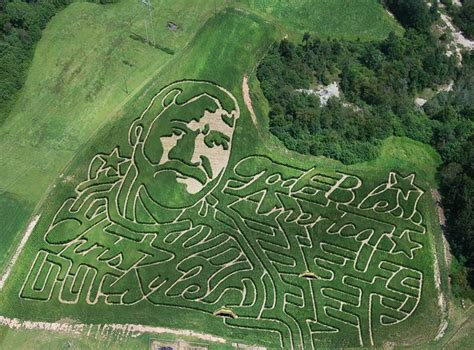 awesome corn mazes  georgia      fall