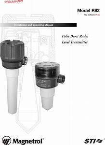 Magnetrol R82 Pulse Burst Radar Level Transmitter User