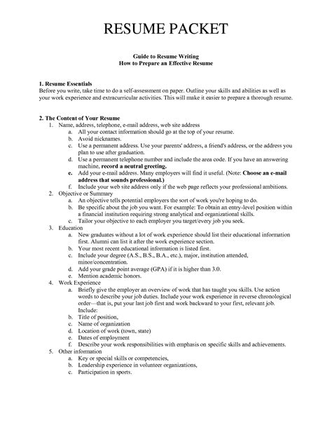 How To Prepare Resume by Guide To Resume Writing How To Prepare An Effective