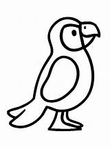 Coloring Puffin Pages Popular Bird sketch template
