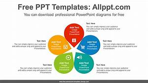 Five Petals Flower Powerpoint Diagram Template