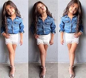 Fashion Bebés Camisas para niñas de mezclilla 2017 5