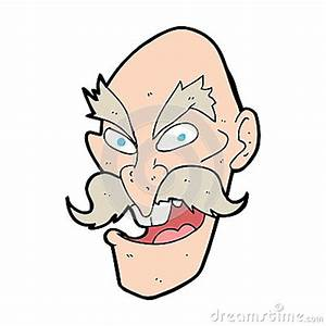 Cartoon Evil Old Man Face Stock Image - Image: 37016511