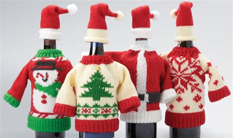 aytai 3pcs ugly christmas sweater wine bottle cover handmade wine bottle sweater for christmas decorations ugly christmas sweat sears ca knitted bottle covers only 4 04 each