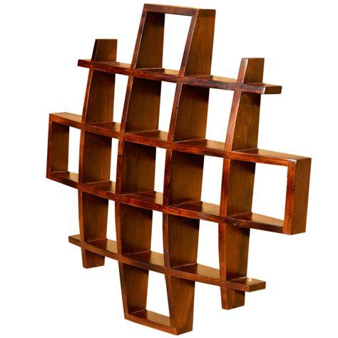 Contemporary Wood Display Wall Hanging Shelves Decor Curio