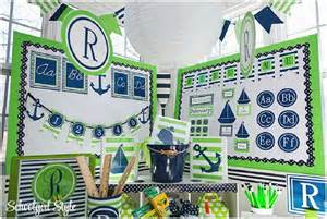 lime and navy nautical classroom decor beginning of