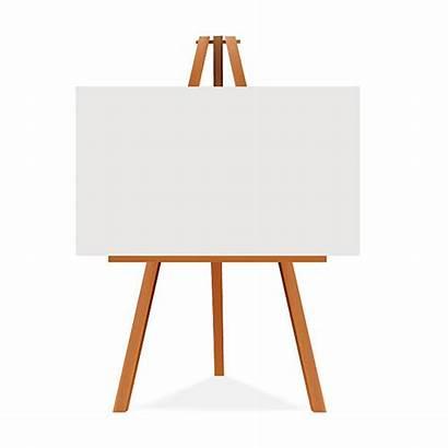 Easel Canvas Blank Vector Advertising Space Clip