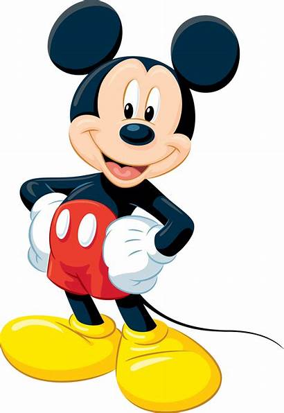 Mickey Mouse Standing Classic Transparent