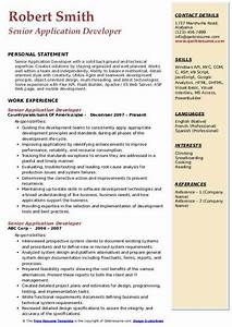 Ms Access Resume Senior Application Developer Resume Samples Qwikresume