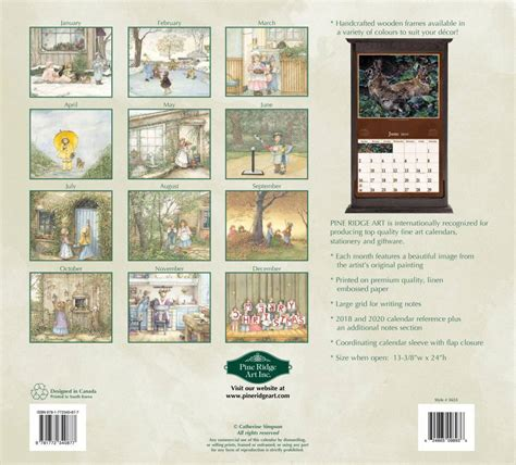 young wall calendar pine ridge art postage included