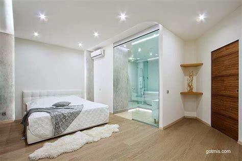 arquitectura de casas modernos baños integrados al dormitorio