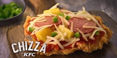 Chizza Kfc Chicken Fried Pizza Kentucky Crust