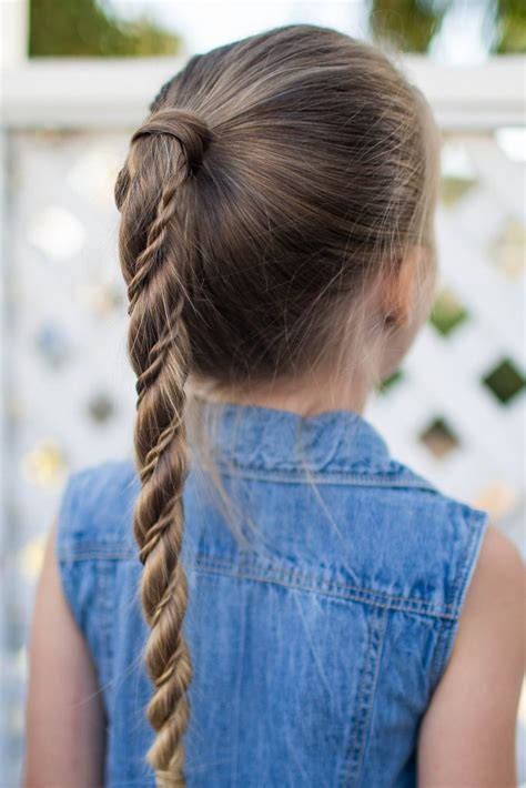 twist wrap ponytail cute girls hairstyles