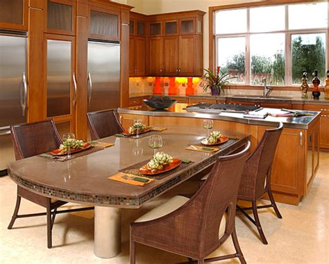 dining table contemporary kitchen countertops orange